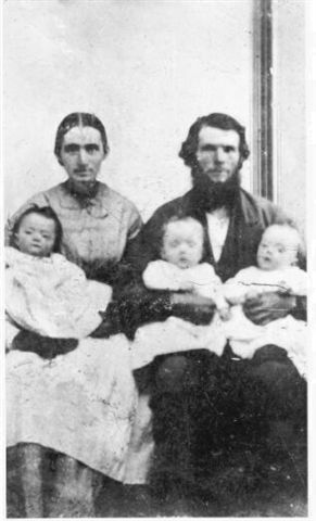 Photos:  John Alexander and Mary Oliver Middleton with Triplets