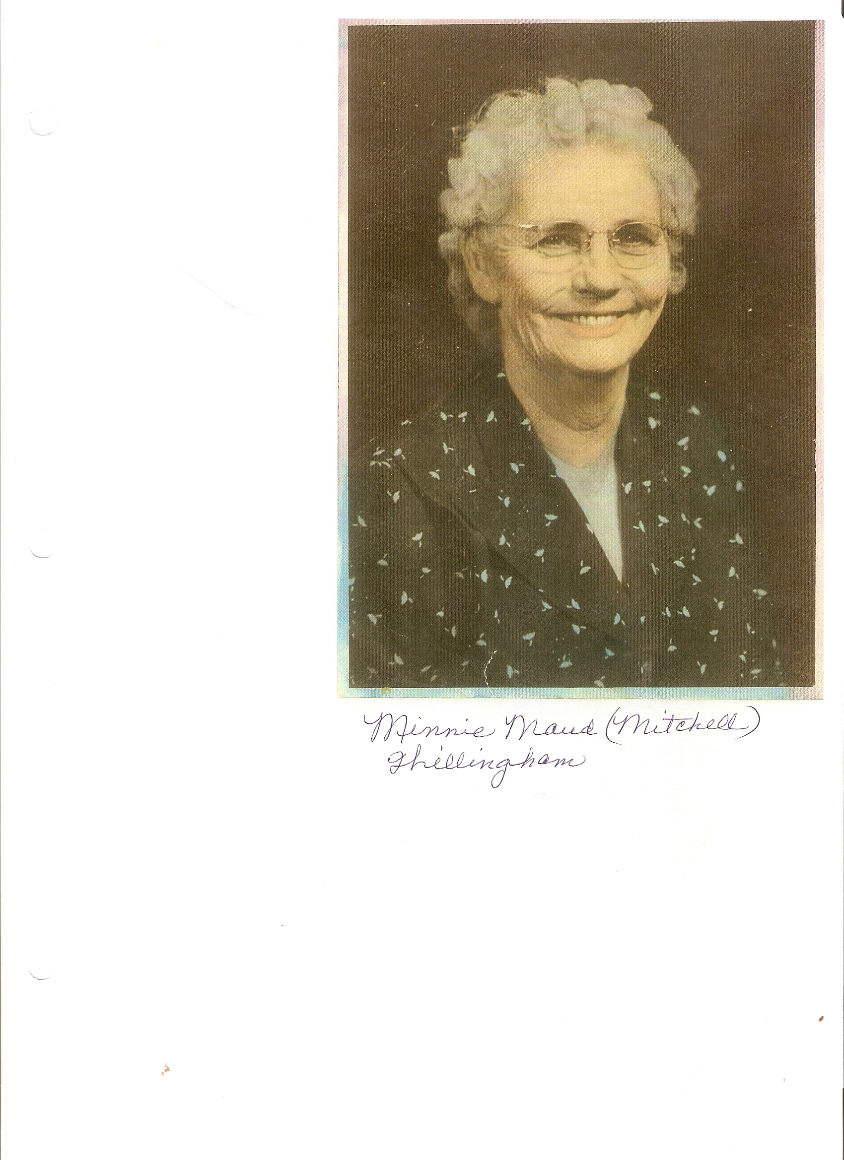 Minne Maude Mitchell Willingam